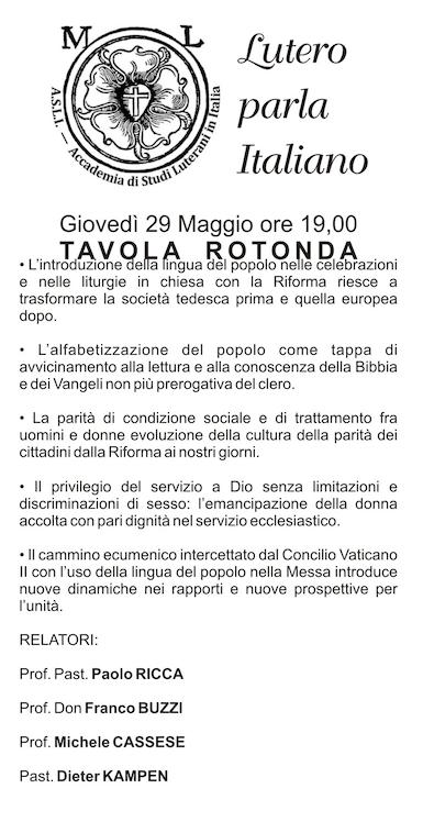 Lutero parla italiano